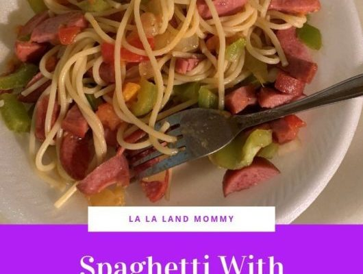 Spaghetti With Sausage, Bell Peppers, And Tomatoes