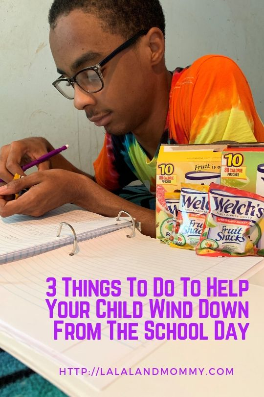 La La Land Mommy: 3 Things To Do To Help Your Child Wind Down From The School Day