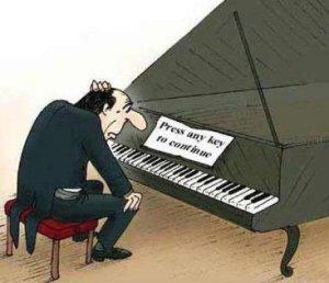 Piano press any key