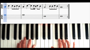 LOUANE : le tuto de jour 1- piano; &#x1f3b6