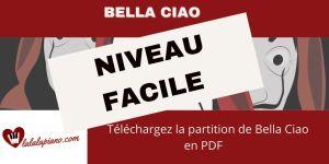Sheet music Bella Ciao La partition Piano