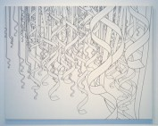 New Work, Thousand Paper Ribbons, print, 130 x 100 cm, 2004