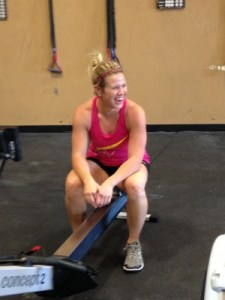 Gigi Pre-WOD.  Love that SMILE!