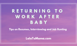 Returning to work after baby