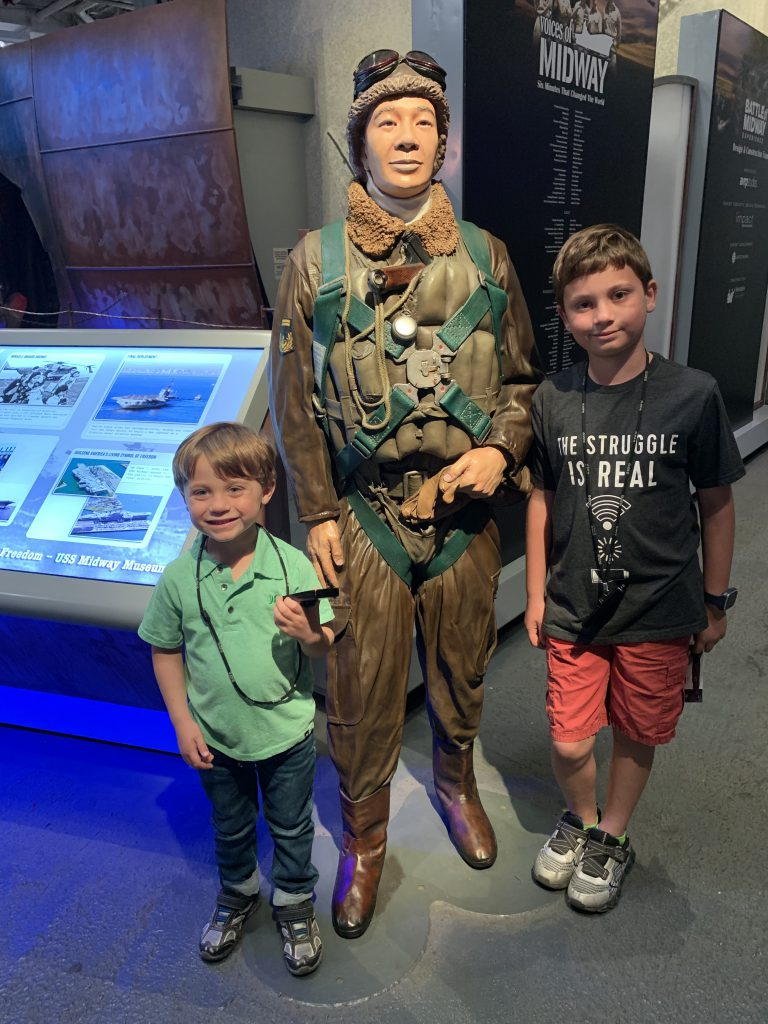 Posing with an Airforce mannequin