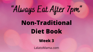non-traditional diet book