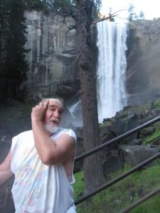 My husband, Charley Brown, mugging for the shot.