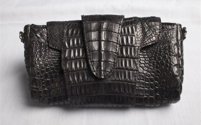 Crocodile Leather Clutch Bag – M