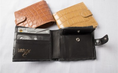Crocodile Leather Mens Wallet with clip