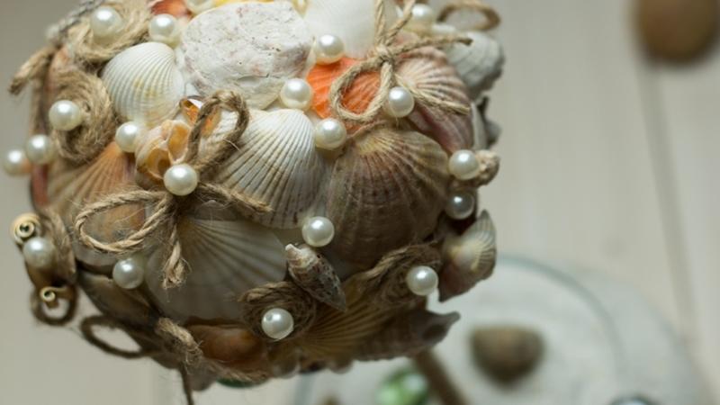 морской топиарий из ракушек своими руками