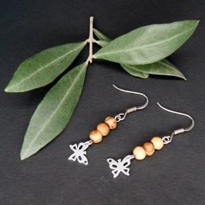 Boucles d'Oreilles Papillon – Argent 925