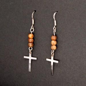 Boucles d'Oreilles Croix – Argent 925