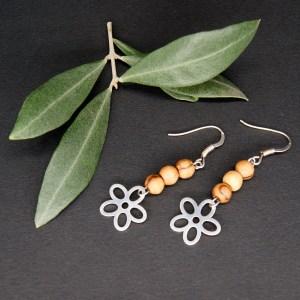 Boucles d'Oreilles  Grosse fleur – Argent 925