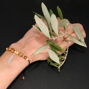 Bracelet réglable Plume – Argent 925