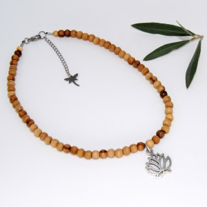 Collier «Princesse»  Lotus Argent plaqué – Mixte