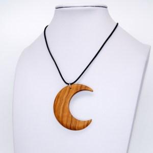 Collier Croissant de Lune – Olivier – Mixte