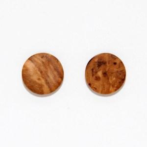 Puces d'oreilles – Olivier – plates Ø 1cm