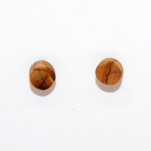 Puces d'oreilles – Olivier – plates Ø 0.6cm