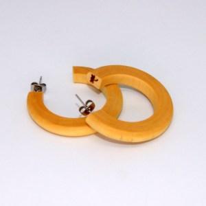 Créoles en Buis – Ø 3.8cm