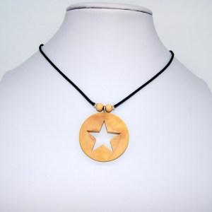 Collier Filigrane d'étoile doré – Buis – Mixte