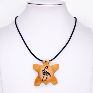 Collier Tortue polynésienne – Olivier