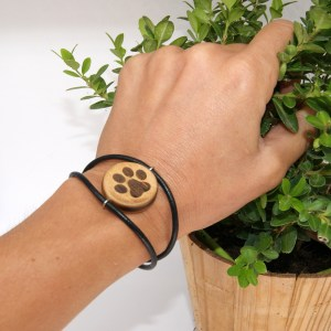 Bracelet Empreinte patte – Olivier – Mixte