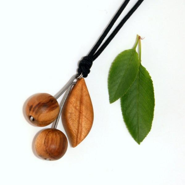 Collier Paire de cerises - Cerisier