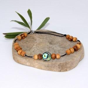Bracelet de cheville «l'abalone»