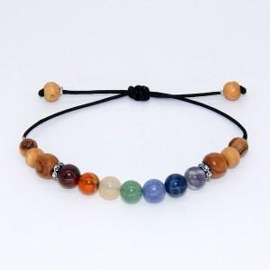 Bracelet «l'essence des Chakras» – taille réglable