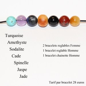 Commande pour I.DP Bracelet perle Cade et Pierres
