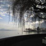 atardecer en el lago lemán