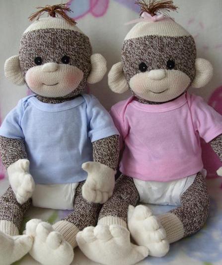 PDF Pattern with Kit supplies - Baby Sock Monkey