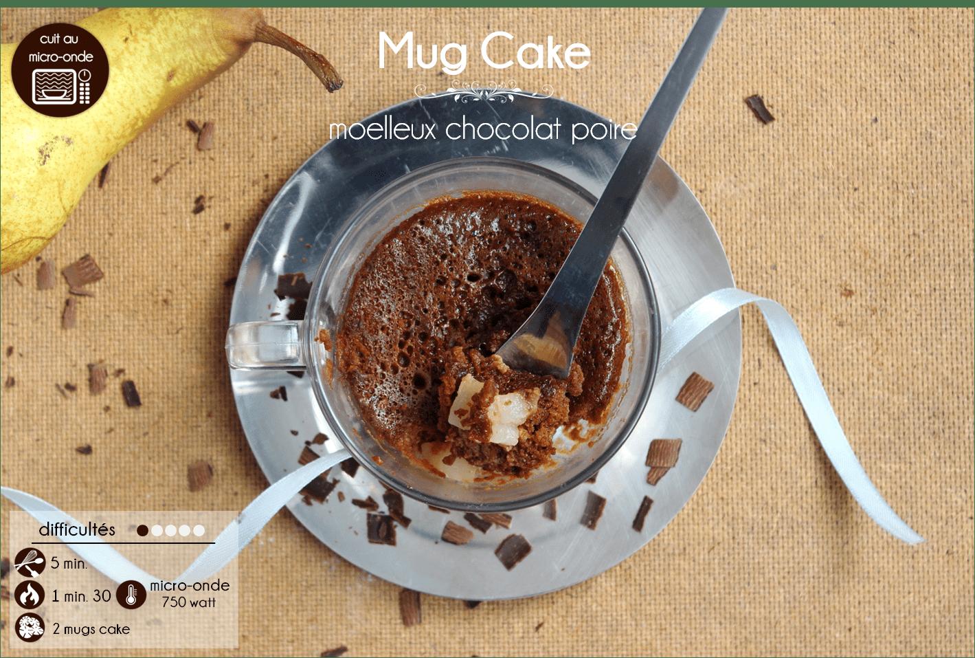la ligne gourmande recette du mug cake au chocolat et la poire. Black Bedroom Furniture Sets. Home Design Ideas