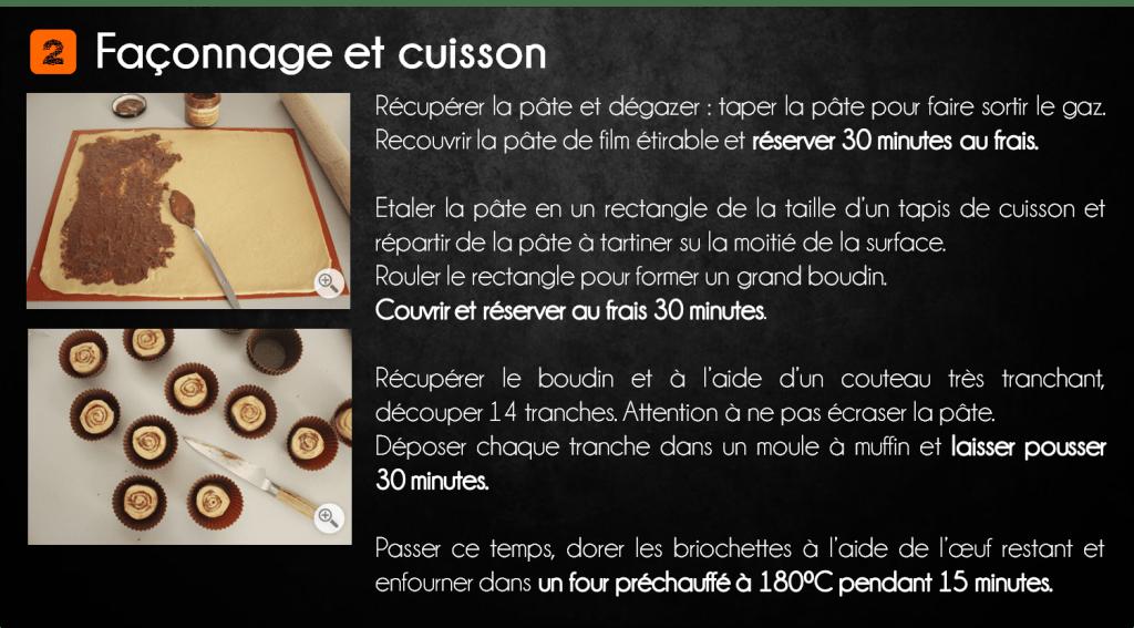 etapes briochette pâte à tartiner