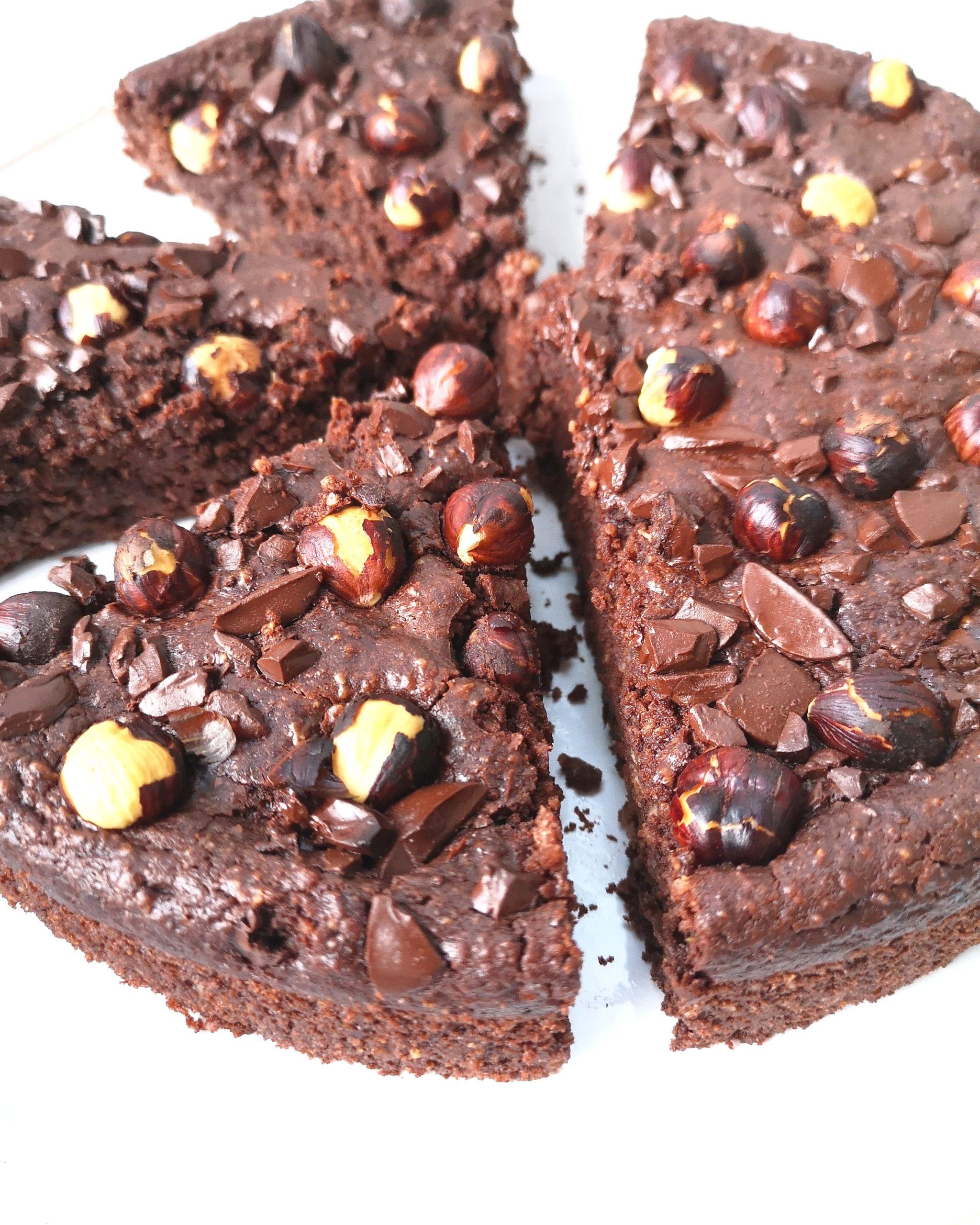 Moelleux chocolat avoine (sans sucre, beurre, farine, gluten et vegan)