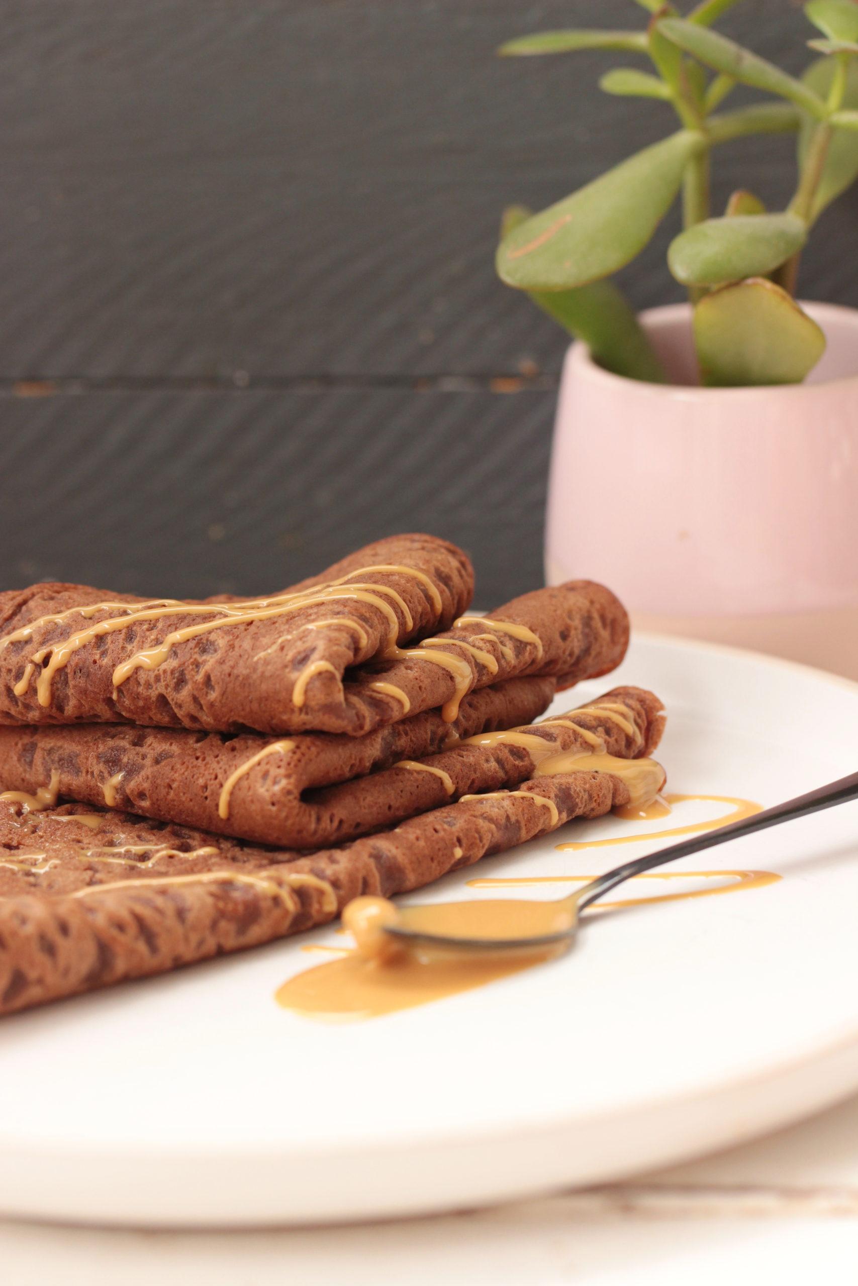 Crêpes tout chocolat sans oeuf