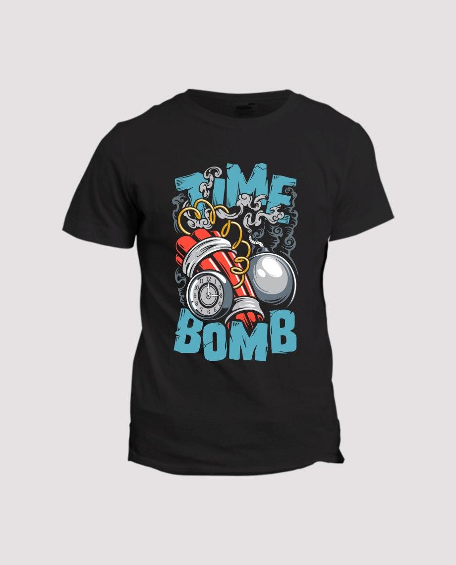 la-ligne-shop-t-shirt-noir-time-bomb