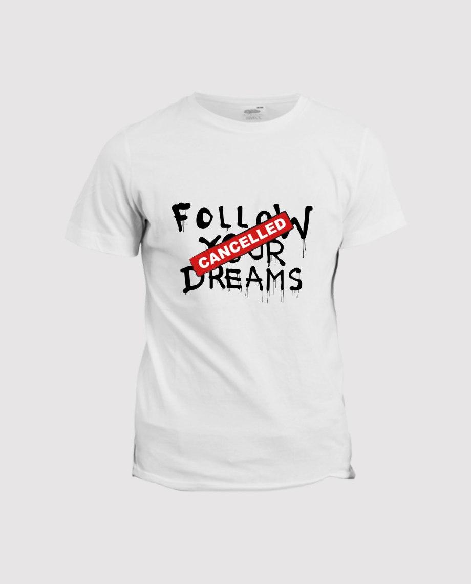 la-ligne-shop-t-shirt-blanc-homme-banksy-follow-your-dream-cancelled
