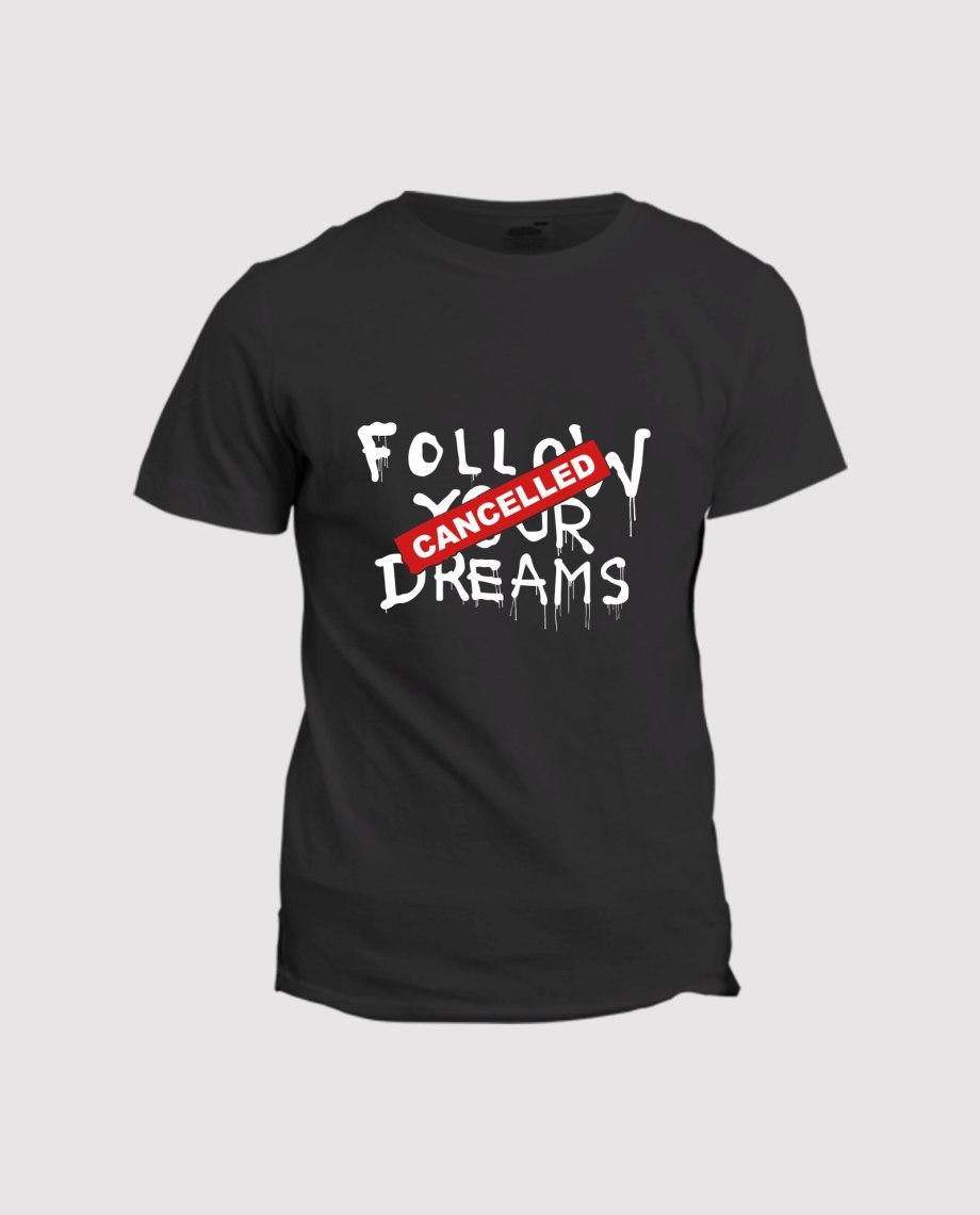 la-ligne-shop-t-shirt-noir-homme-banksy-follow-your-dream-cancelled