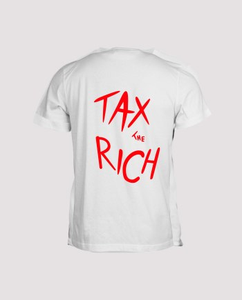 T-shirt blanc homme tax the rich