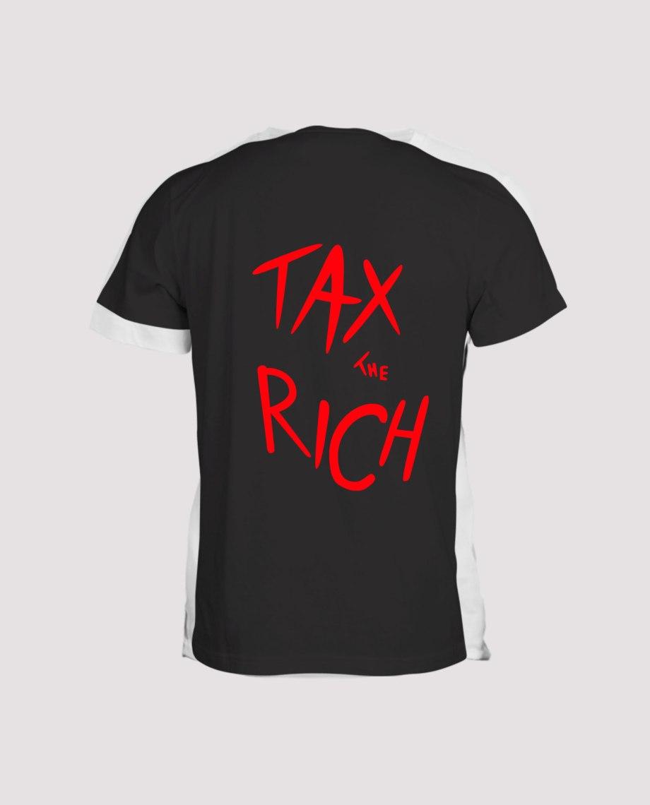 T-shirt noir homme tax the rich