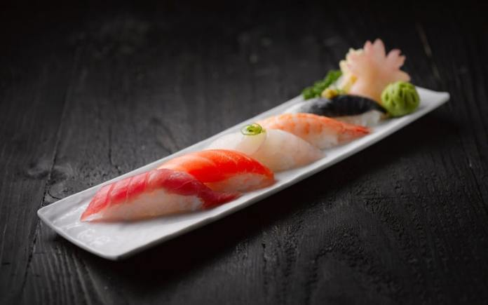 japanese food is rich in color and presentation