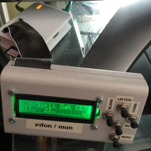 The pifon mon unit. LCD display is in a seperate housing