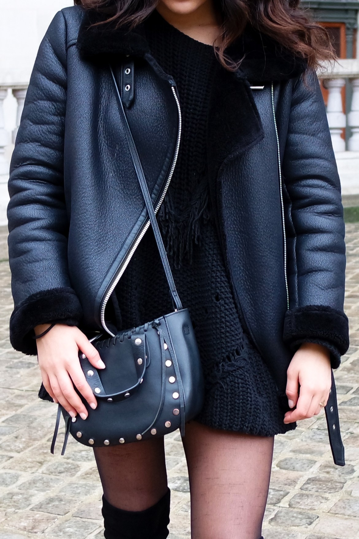 Total Black look - Lallasmind Belgian Blogger