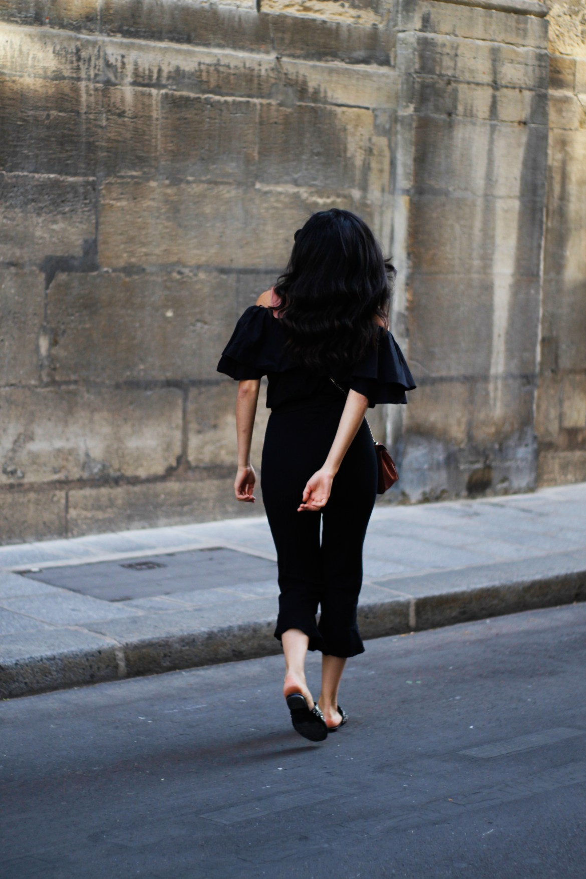 off the shoulders Black look - Lallasmind Belgian Blogger
