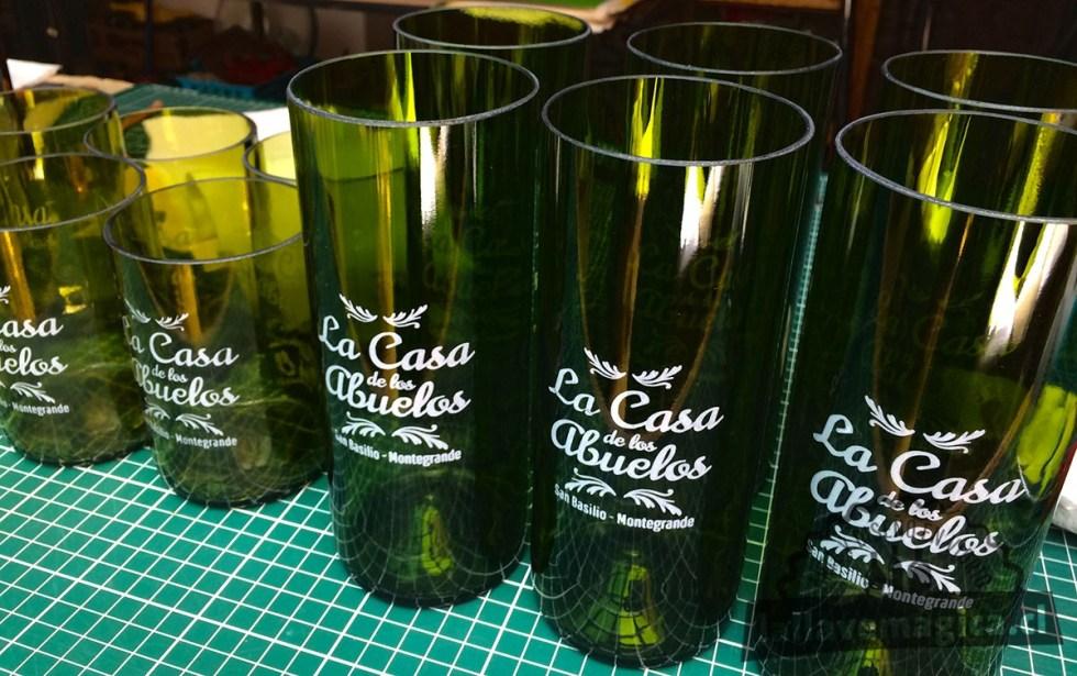 Vasos de botella conmemorativos
