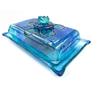 mantequillera azul