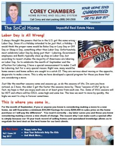 SoCal Home Newsletter Corey Chambers Referral All