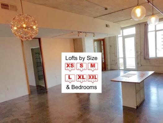 Lofts by Size and Bedrooms