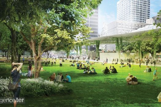 Pershing Square Park Downtown Los Angeles New Photos and Plans